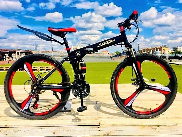Складной велосипед на литых дисках - фото 16466