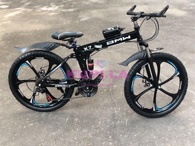Складной велосипед BMW на дисках черный