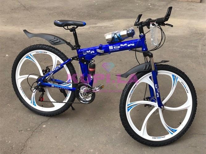 Складной велосипед BMW 26R на дисках синий