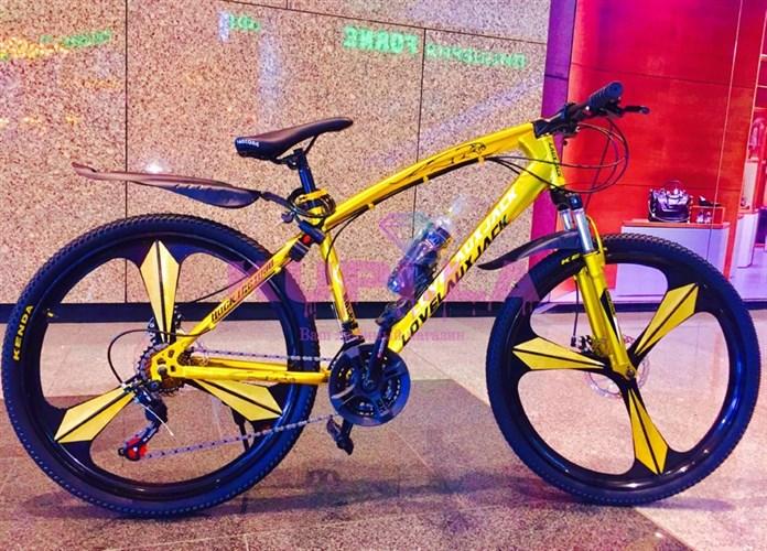 Велосипед Jaguar на дисках желтый