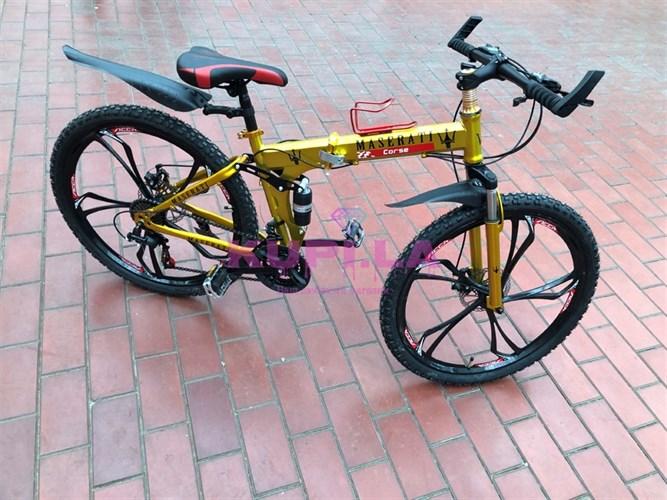 Велосипед Maserati на дисках золотой