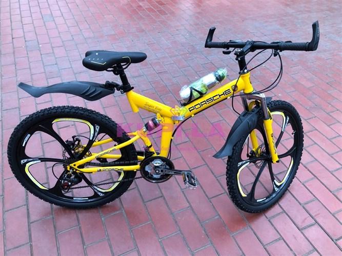 Велосипед Porshe на дисках желтый