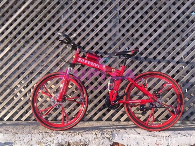Складной велосипед FERRARI на дисках красный