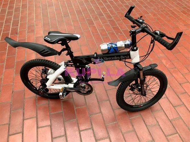 Детский складной велосипед  Mercedes-Benz 20R черный