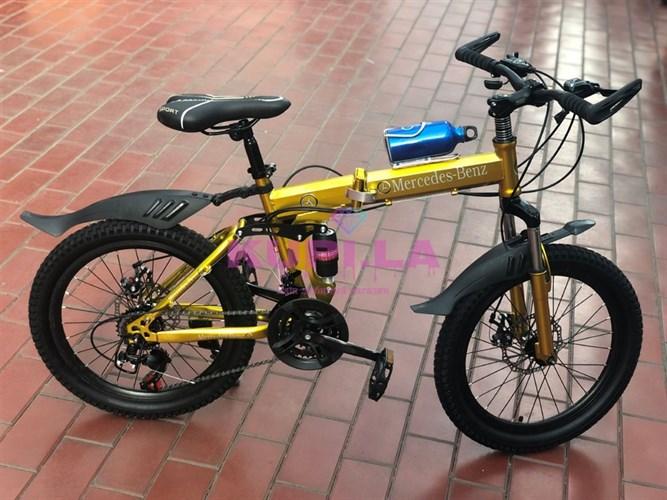 Детский складной велосипед Mercedes-Benz 20R на спицах золотой