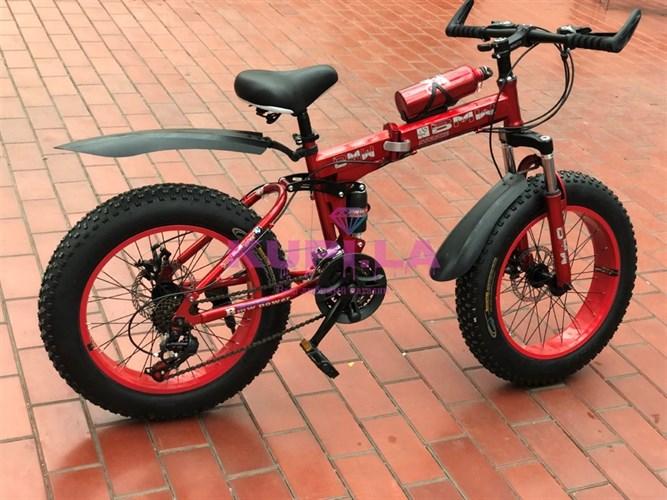 Детский складной велосипед BMW 20R на спицах красный