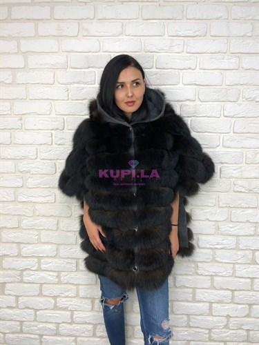 Двухстороннее пальто (шуба) с мехом