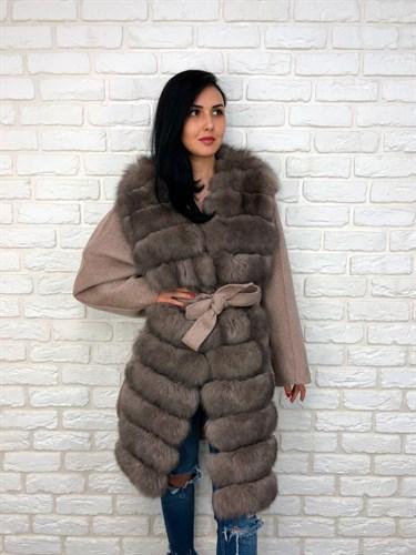 Пальто на кашемире с мехом
