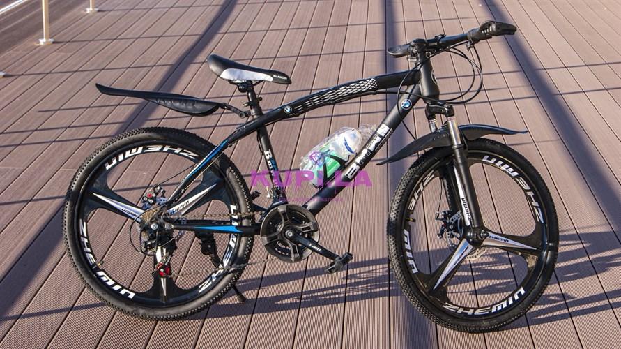 Велосипед BMW 24R на дисках черный