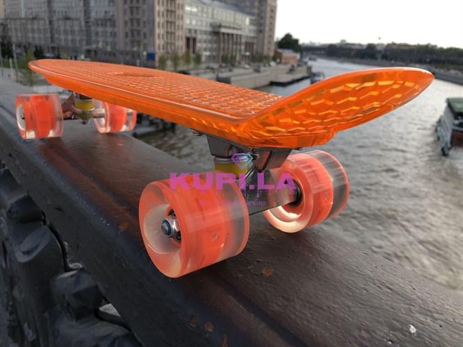 Скейт оранжевый