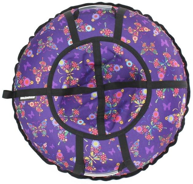 Тюбинг Hubster Люкс Pro Бабочки фиолетовые