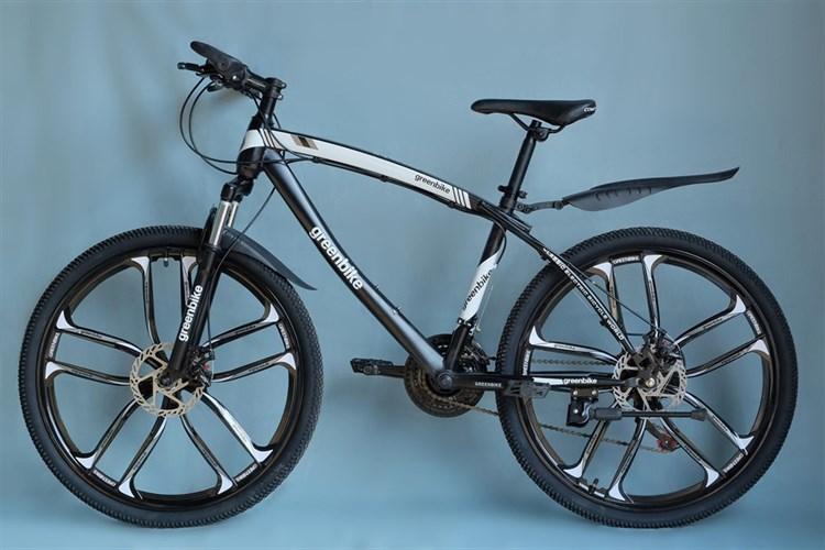 Велосипед Green Bike на дисках черный