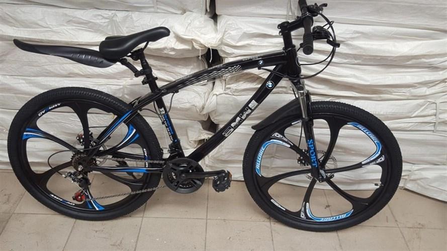 Велосипед BMW на дисках черный