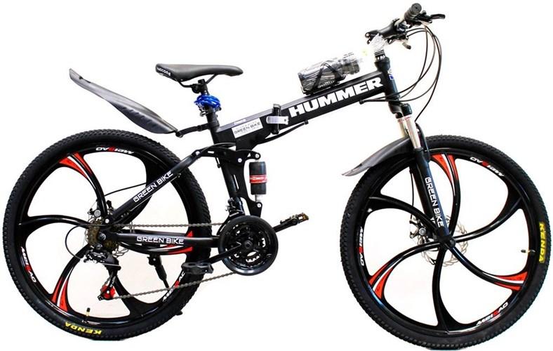 Велосипед HUMMER на дисках черный