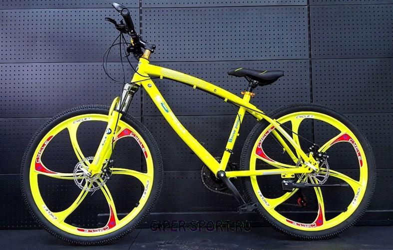 Велосипед BMW на дисках салатовый