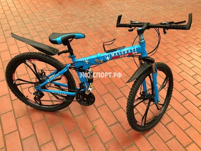Велосипед Maserati на дисках синий
