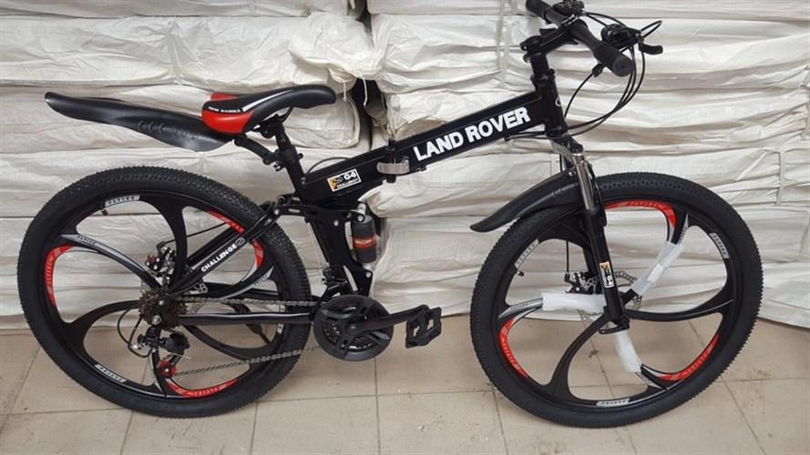 Складной велосипед LAND ROVER на дисках черный