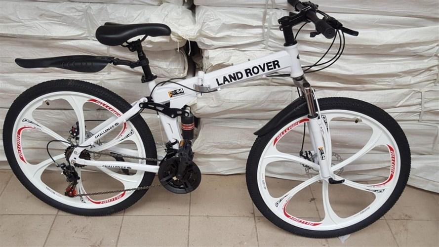 Складной велосипед LAND ROVER на дисках белый
