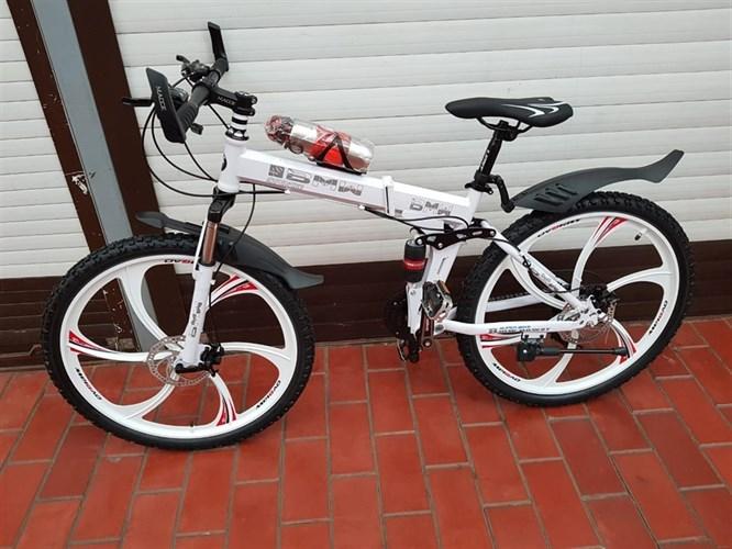 Складной велосипед BMW на дисках белый
