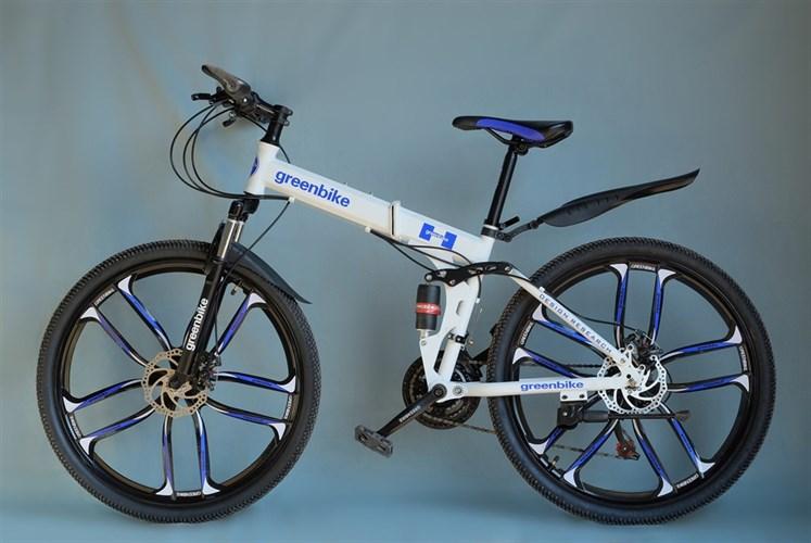 Складной велосипед Green Bike на дисках белый