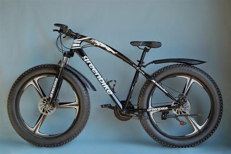 Фетбайк Green Bike на дисках черный