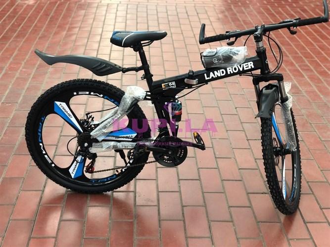 Велосипед LAND ROVER на дисках черный