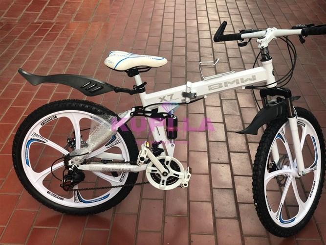 Велосипед BMW 24R на дисках белый