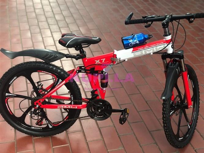 Велосипед BMW 24R на дисках красный
