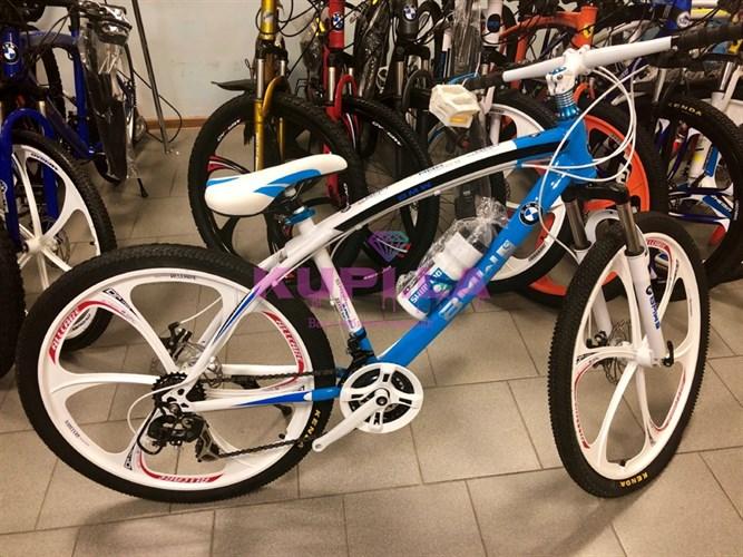 Велосипед BMW на дисках голубой