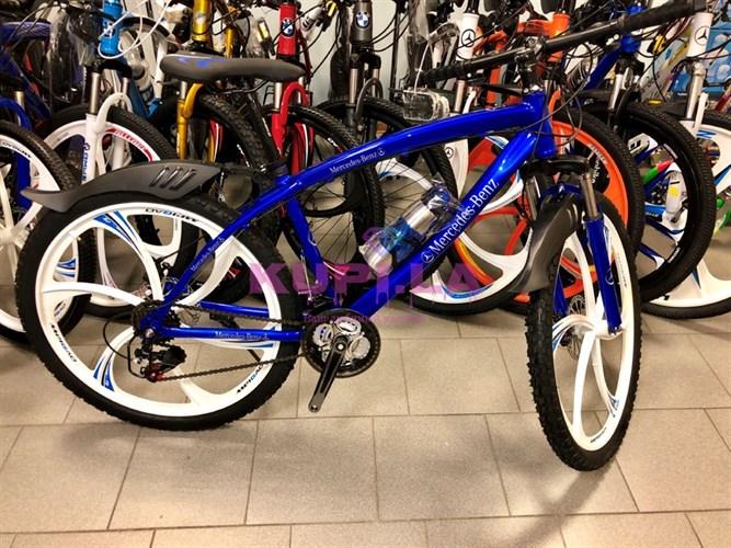 Велосипед Mercedes-Benz на дисках синий