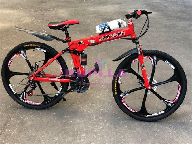 Складной велосипед LAND ROVER на дисках красный