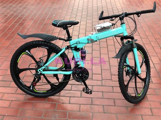 Складной велосипед Mercedes-Benz на дисках голубой
