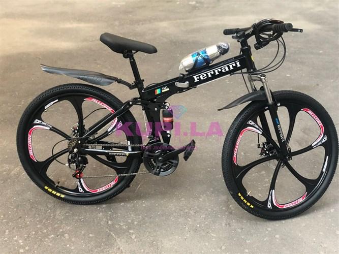 Складной велосипед Ferarri на дисках черный