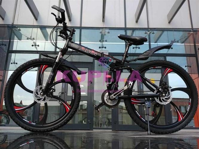 Велосипед Audi на литых дисках черный