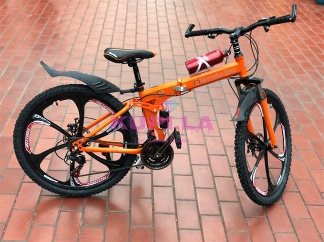 Складной велосипед Mercedes-Benz на дисках Оранжевый